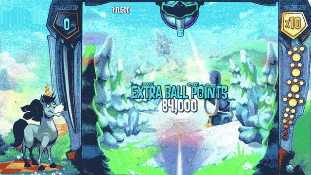 Ein animiertes GIF zeigt eine Spielszene aus «Peggle 2»
