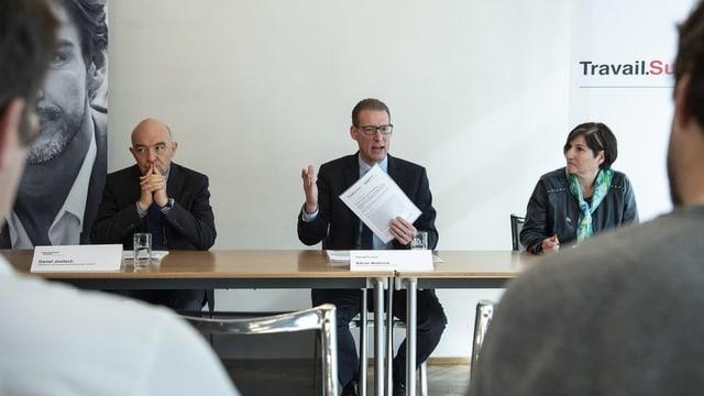 Daniel Jositsch, Adrian Wüthrich und Carole Furrer