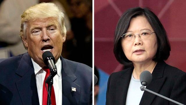 Donald Trump e Tsai Ing Wen.
