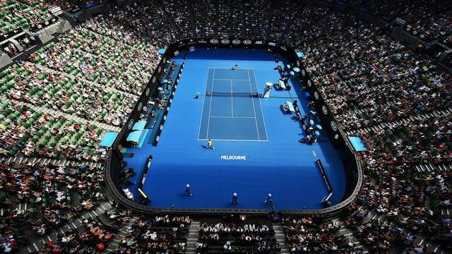 Il turnier da tennis a Melbourne.
