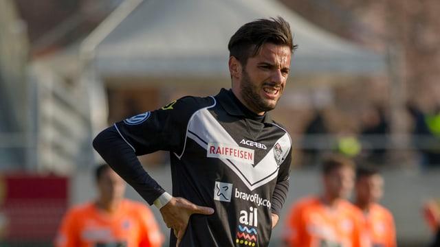 Matteo Tosetti im Dress des FC Lugano.