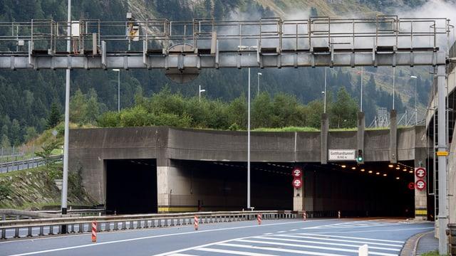 Tunnelportal bei Göschenen