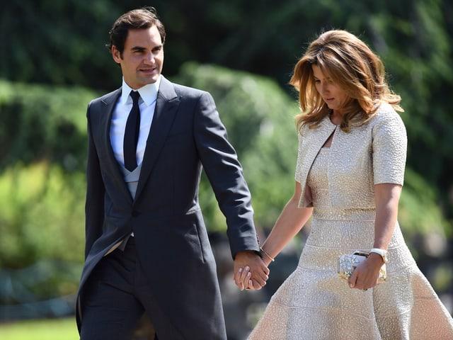 Roger und Mirka Federer.