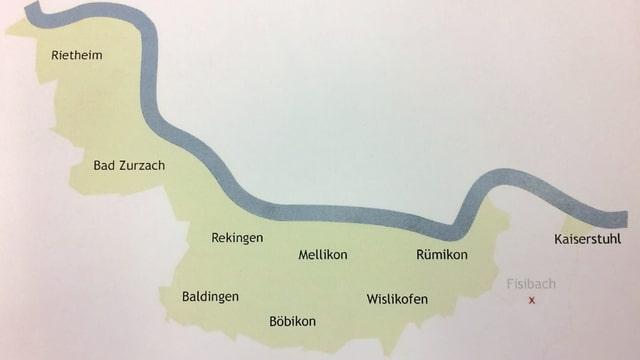 Karte zur Fusion