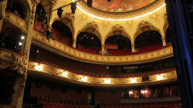 Blick von der Bühne in den Zuschauerraum.