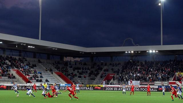 Heimspiel des FC Thun in der Stockhorn Arena.