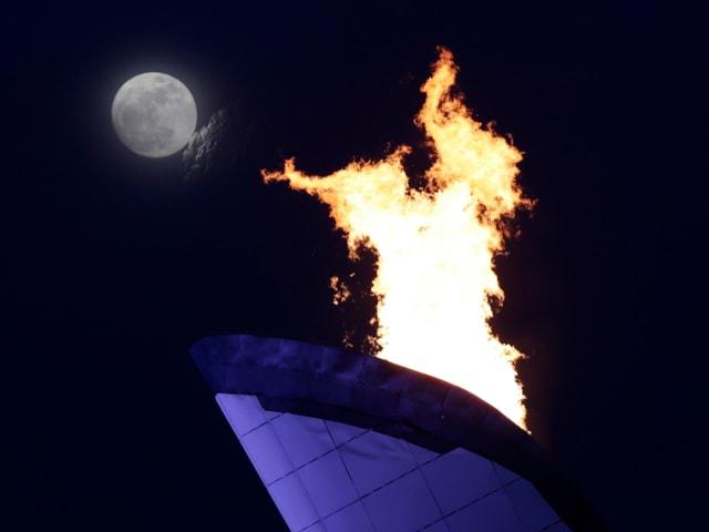 Olympische Flamme in Sotschi