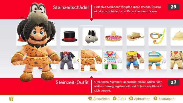 Super Mario hat für jedes Land die passenden Kostüme bekommen.