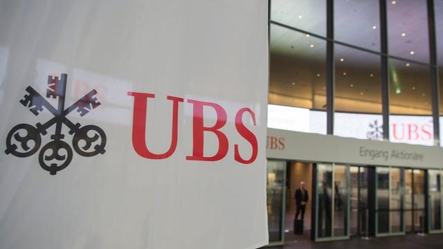 Entrada da la banca UBS.