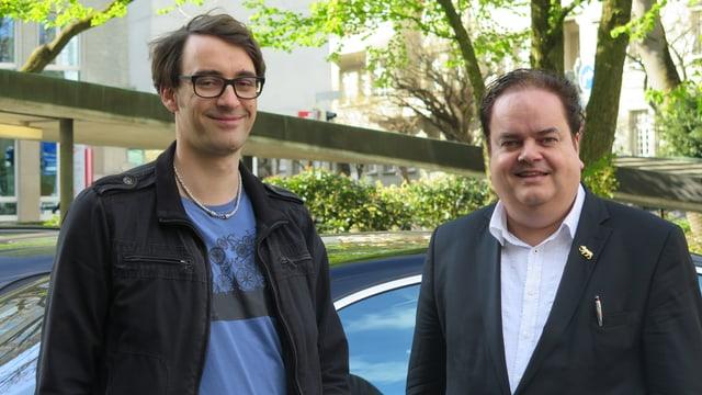 Michael Sutter Pro Velo Bern und Thomas Fuchs SVP Stadt Bern