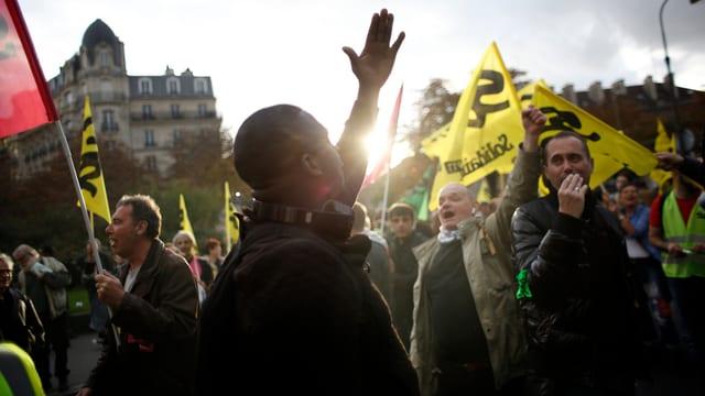 Demonstranten in Paris.