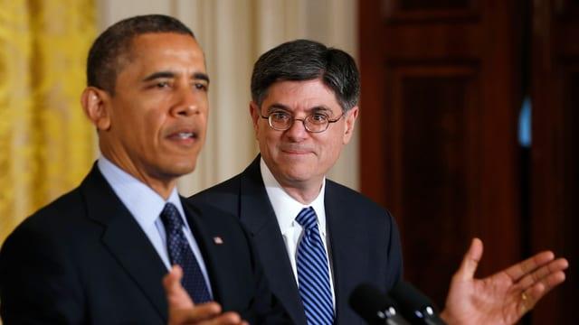 Denis McDonough zusammen mit Präsident Barack Obama.