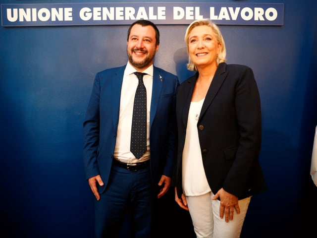 Matteo Salvini und Marine Le Pen