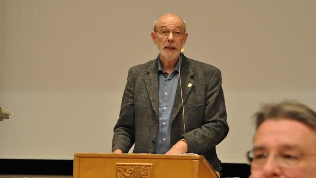 Peter Vogt am Rednerpult