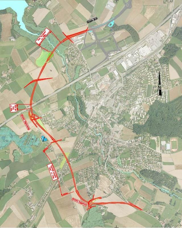 Karte von Düdingen