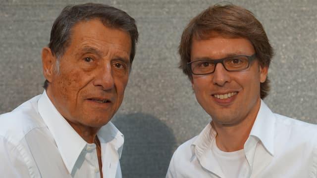Schnappschuss mit Udo Jürgens und Christian Klemm.