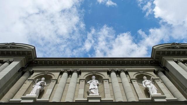 Ansicht der vorderen Fassade des Kunstmuseums Bern.