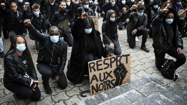 Demo in Lausanne vom 13. Juni 2020.