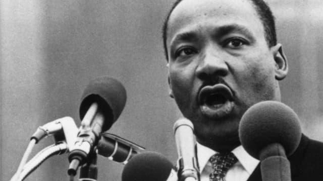 Martin Luther King bei einer Rede.