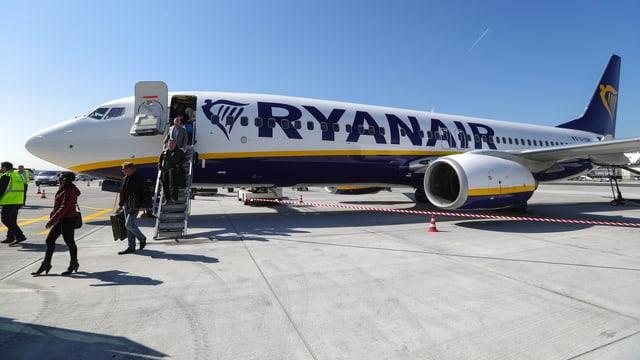Flugzeug der Ryanair.