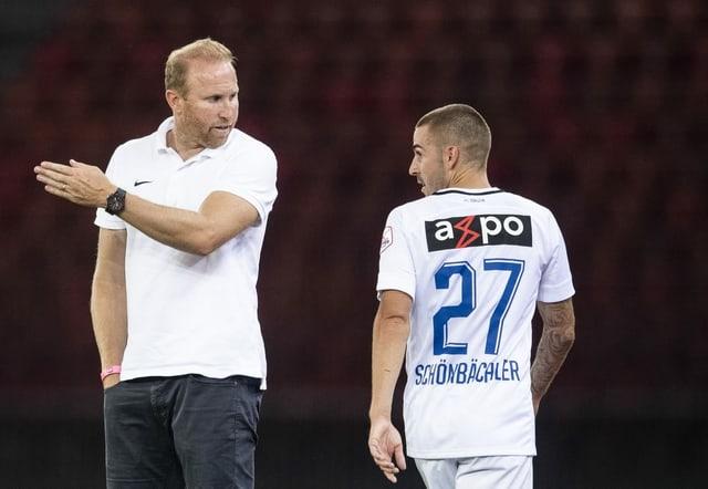 Marco Schönbächler muss sich nach seiner verbalen Entgleisung gegenüber dem Unparteiischen bei Trainer Ludovic Magnin erklären.