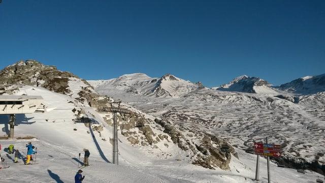 Territori da skis da l'Arena Alva.