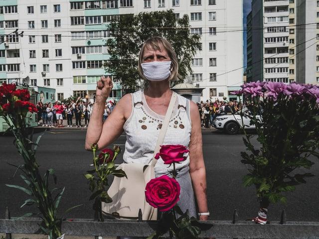 Regierungskritische Demo in Minsk, August 2020.