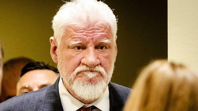 Slobodan Praljak im Gerichtssaal