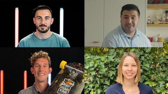 Josip Drmić, Raeif Al Habash, Manuela Lehmann und Patrick Switzer.