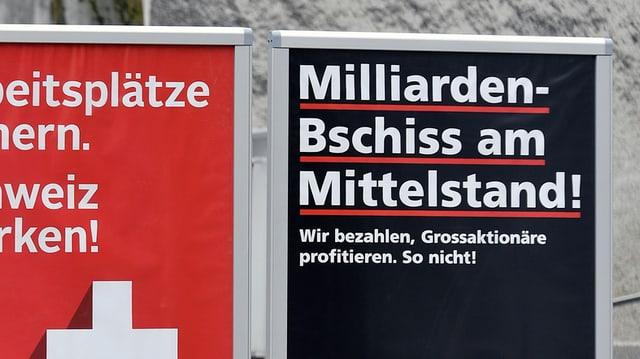 Plakate zur Unternehmenssteuerreform III.
