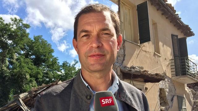 Philipp Zahn während einer Schaltung aus Italien.