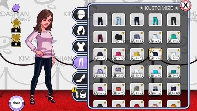 Spielszene aus «Kim Kardashian: Hollywood»