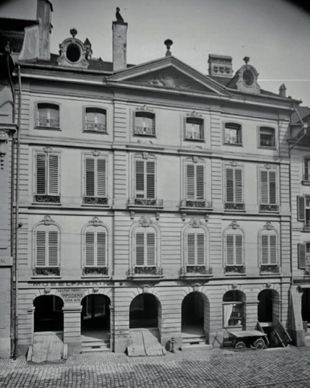 Haus auf einer alten Aufnahme
