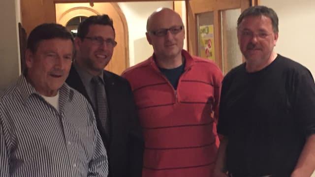 Gion-Duri Gisler, Jan-Andrea Bernhard (president), Luregn Caspescha, Augustin Beeli