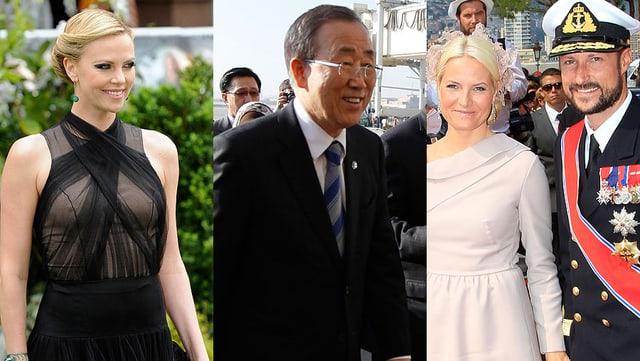 Charlize Theron, Ban Ki-moon und das norwegische Kronprinzenpaar