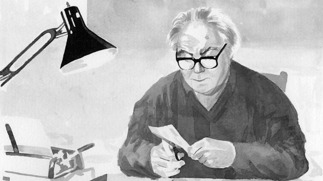 Eine Zeichnung von Max Frisch.