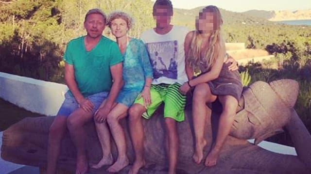 Boris Becker zeigt ein Familienfoto auf Facebook.