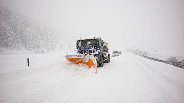 Schneeräumung im Südbünden.