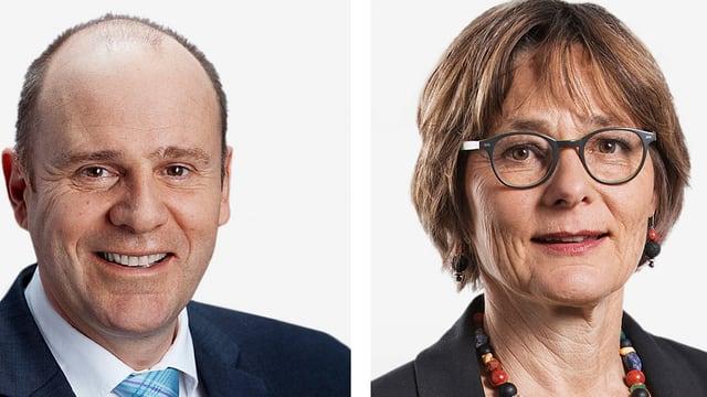 Thomas Hurter (SVP) und Martina Munz (SP) Ständeräte von Schaffhausen