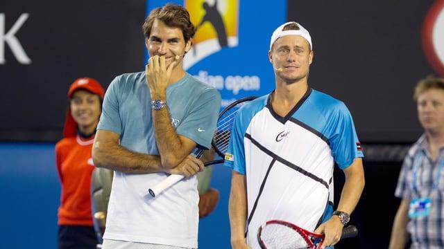 Roger Federer und Lleyton Hewitt.