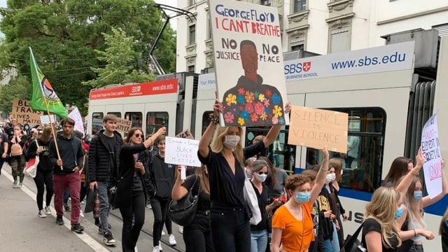 Demonstranten in Zürich