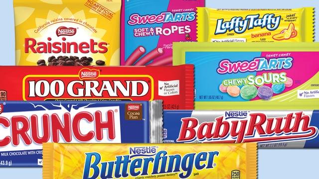 Süsswaren in den USA von Nestle.