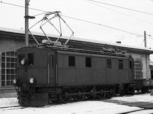 Fotografia da la locomotiva istorica 391