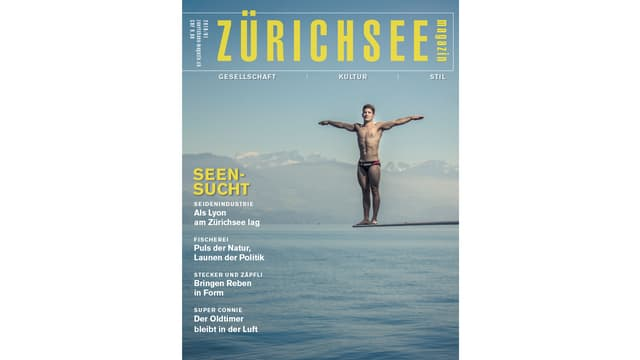 Cover dil Zürichseemagazin cun in senudader sin in'aissa da siglir al lag da Turitg.