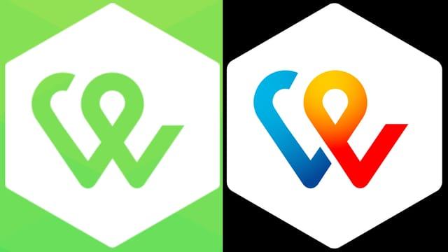 Die zwei Twint-Logos: Grün, das Alte, schwarz mit mehr bunt, das Neue.