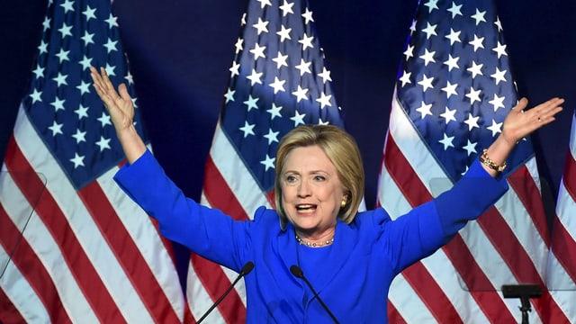 Kandidatin Hillary Clinton am Sommertreffen der Demokraten vom Wochenende in Minneapolis.