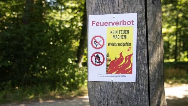 Schild Feuerverbot