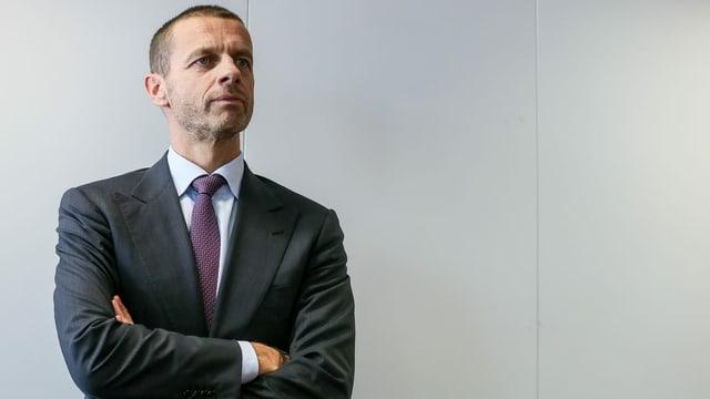 Uefa-Präsident Aleksander Ceferin plant die neue Saison