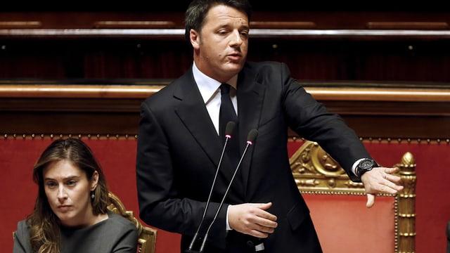 Matteo Renzi neben Maria Elena Boschi.
