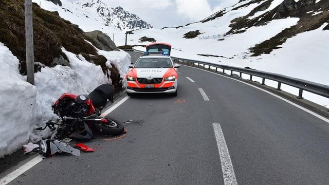 Accident sin il Pass dal Flüela.